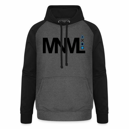 MNML Schrift Symbole Logo minimalistisch Text Icon - Unisex Baseball Hoodie