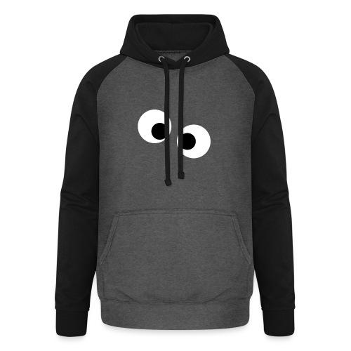 silly eyes - Unisex baseball hoodie