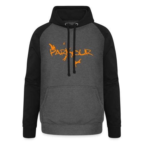 Parkour Orange - Unisex baseball hoodie