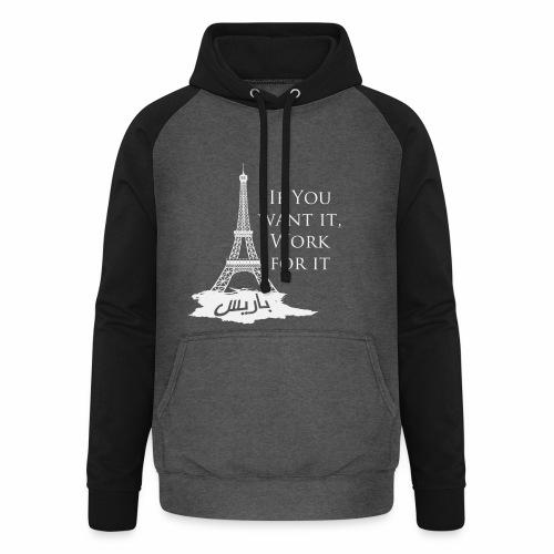 Paris dream work - Sweat-shirt baseball unisexe