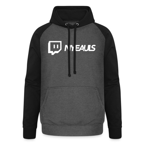 nyeauls twitch white png - Unisex baseball hoodie