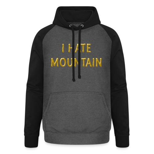 hate mountain - Unisex Baseball Hoodie
