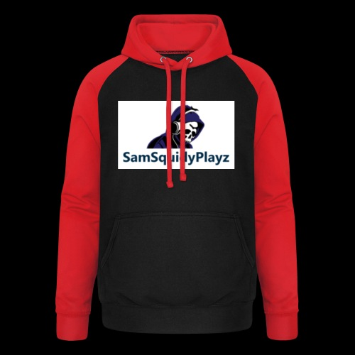 SamSquidyplayz skeleton - Unisex Baseball Hoodie
