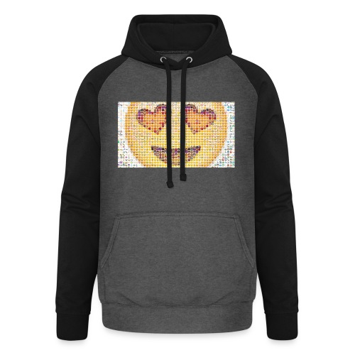 Emoij Hoesje - Unisex baseball hoodie
