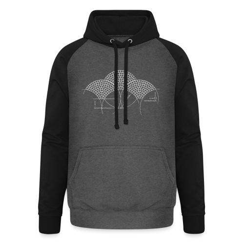 European Fan White - Unisex baseball hoodie