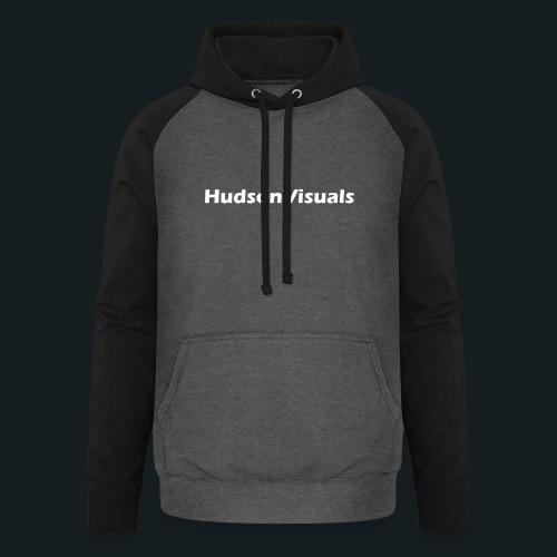 HudsonVisuals Logo Back - Unisex Baseball Hoodie