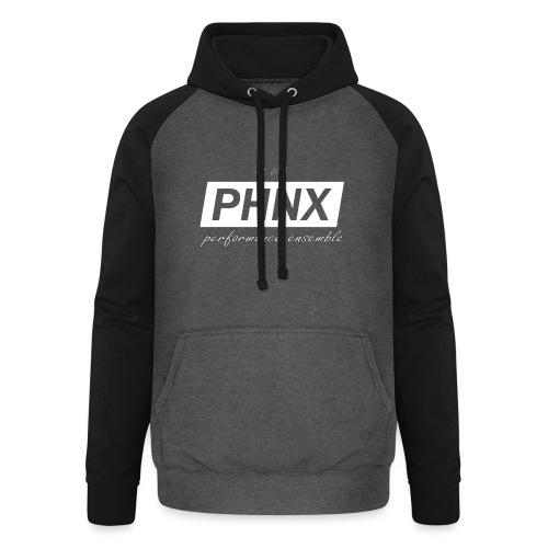 PHNX /#white/ - Unisex Baseball Hoodie