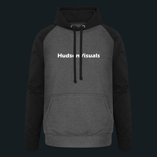 HudsonVisuals Wolf (Logo on back *Blue*) - Unisex Baseball Hoodie