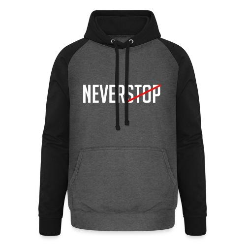 Neverstop - Unisex baseball hoodie