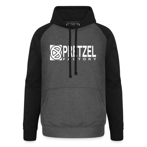 Pretzel Factory Logo Blanc - Sweat-shirt baseball unisexe