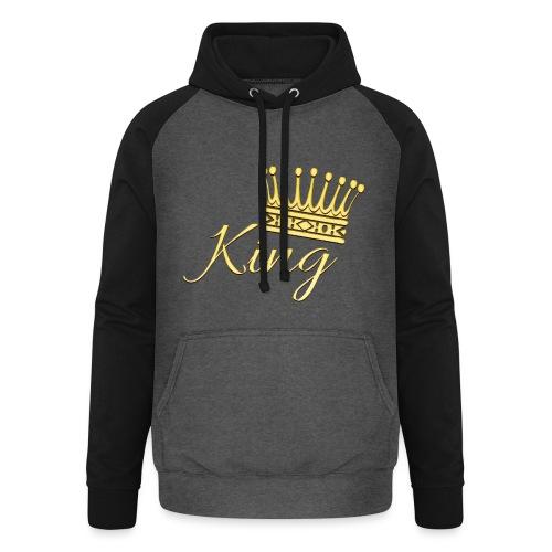 King Or by T-shirt chic et choc - Sweat-shirt baseball unisexe