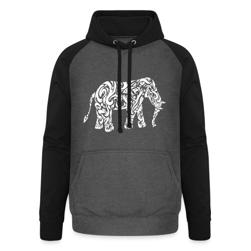 Tribal Eléphant - Sweat-shirt baseball unisexe