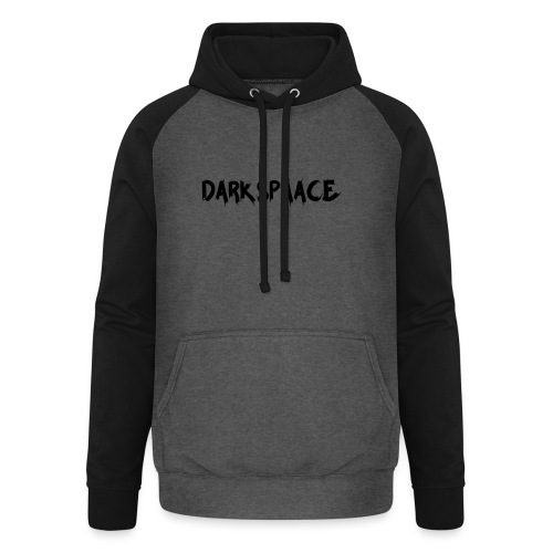 Habits & Accésoire - DarkSpaace Noir - Sweat-shirt baseball unisexe