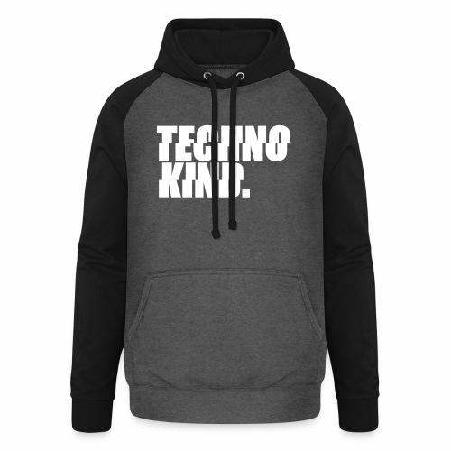 Techno Kind Rave Kultur Berlin Vinyl Progressive - Unisex Baseball Hoodie
