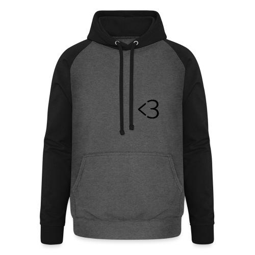 <3 - Unisex baseball hoodie