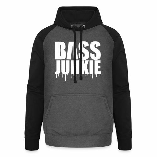 Bassjunkie Bass Music Musik Electro Festivals DJ - Unisex Baseball Hoodie