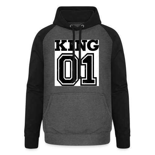 King 01 - Sweat-shirt baseball unisexe