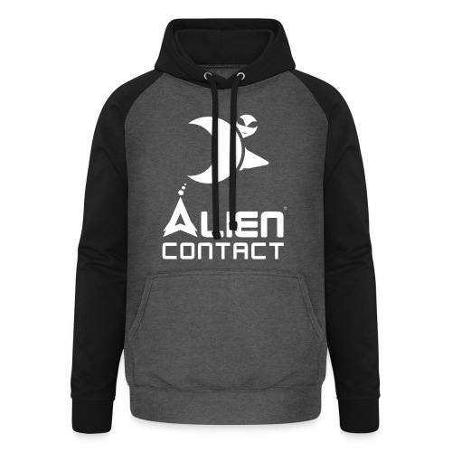 Alien Contact - Felpa da baseball con cappuccio unisex
