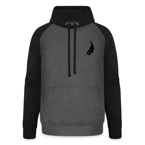 Vh_feather_filled - Unisex Baseball Hoodie