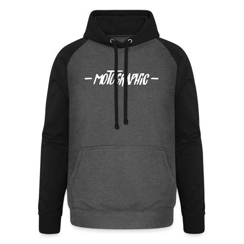 Unisex baseball hoodie - dubbele motographic opdruk