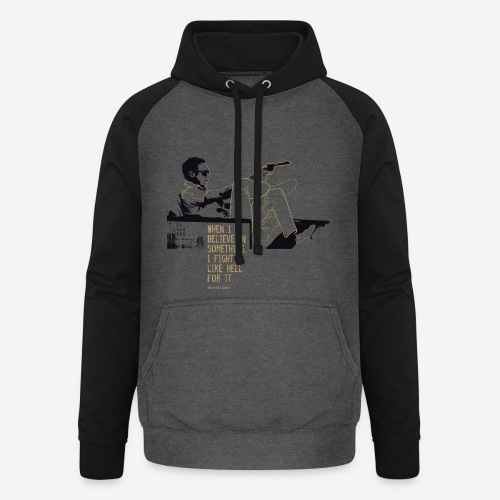 When I Believe in something! Gold - Unisex Baseball Hoodie