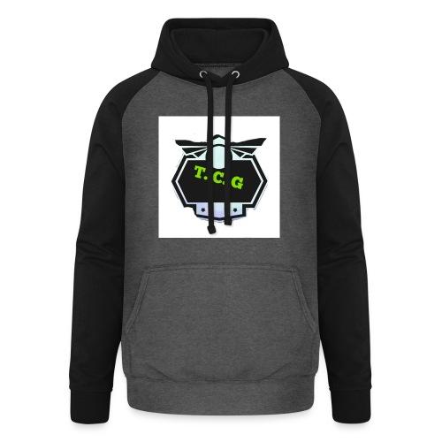 Cool gamer logo - Unisex Baseball Hoodie