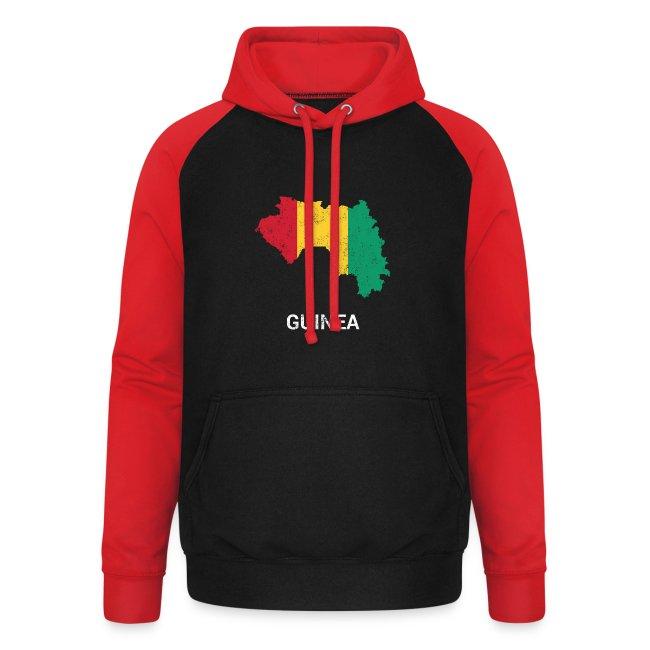 Guinea ( Guinée Gine ) country map & flag