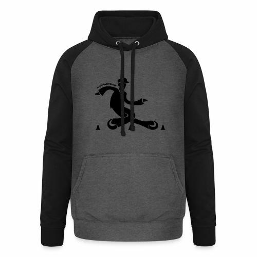 motif kompakombo noir - Sweat-shirt baseball unisexe
