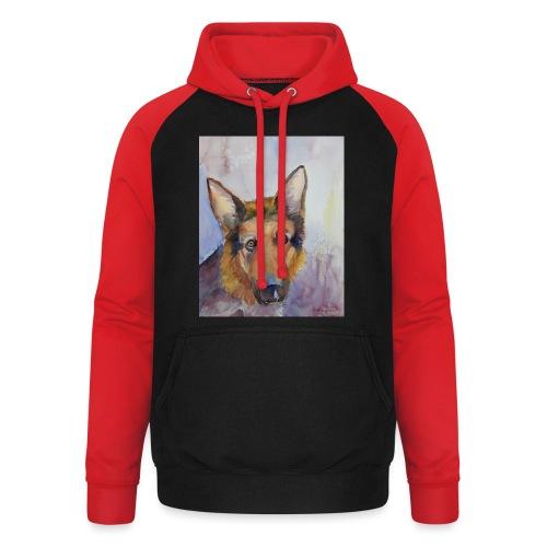german shepherd wc - Unisex baseball hoodie