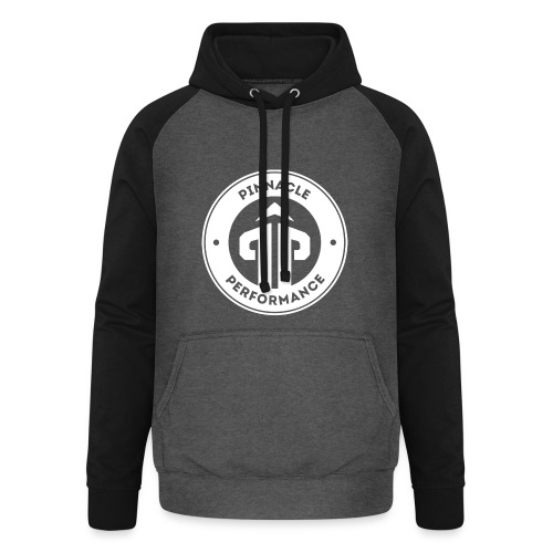 Pinnacle Performance Apparel (White Logo) - Unisex Baseball Hoodie