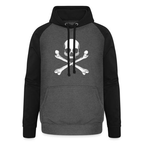 Jolly Roger - Pirate Skull Flag - Unisex Baseball Hoodie