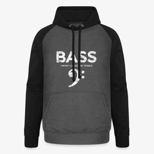 BASS I wont cause any treble (Vintage/Weiß) - Unisex Baseball Hoodie
