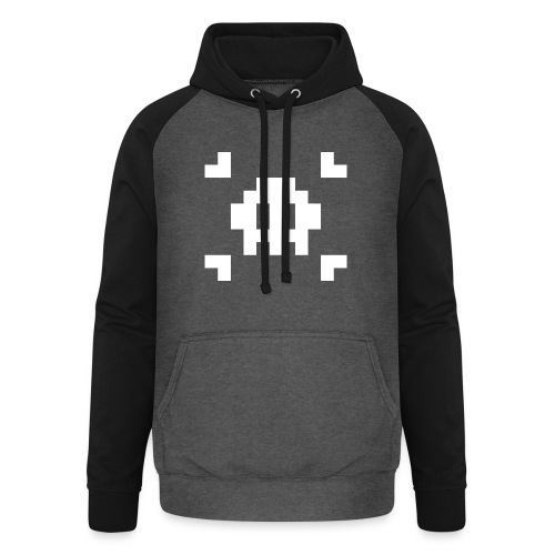 Mug Pixel Skull - Sweat-shirt baseball unisexe