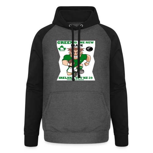 GREEN IS THE NEW BLACK !! - Unisex Baseball Hoodie