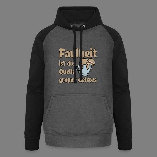 Faulheit - Unisex Baseball Hoodie