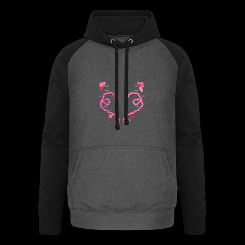 Coeur de serpents - Sweat-shirt baseball unisexe