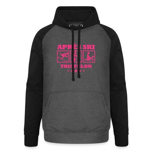 Apres Ski Triathlon | Apreski-Shirts gestalten - Unisex Baseball Hoodie