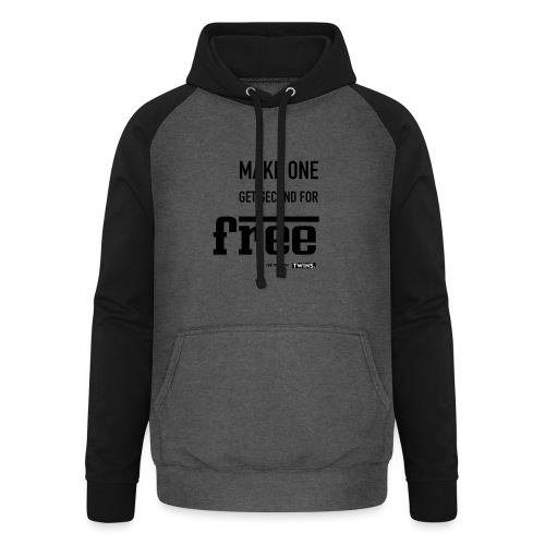 TWINS. make one get second for free - Unisex Baseball Hoodie
