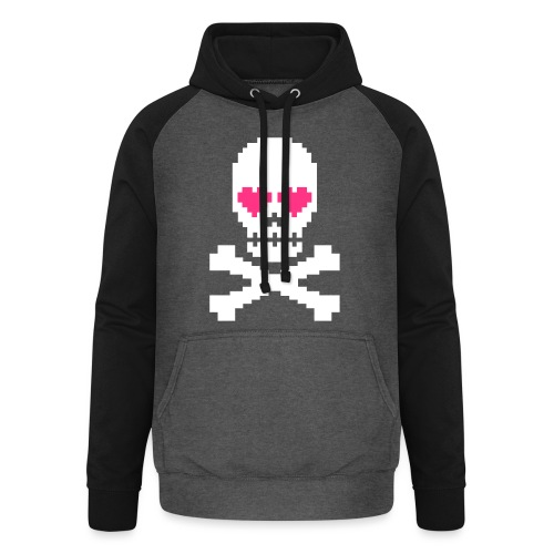 Skull Love - Unisex baseball hoodie