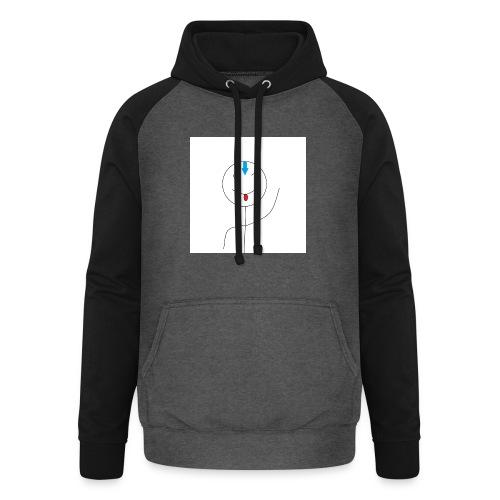 avatar stick man cover 6/6s - Unisex baseball hoodie
