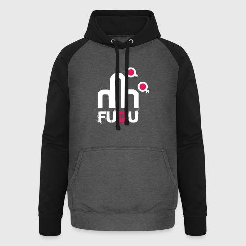 T-shirt FUQU logo colore bianco - Felpa da baseball con cappuccio unisex