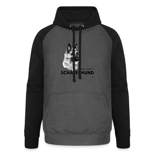 Home is where my Schäferhund is ! - Unisex Baseball Hoodie