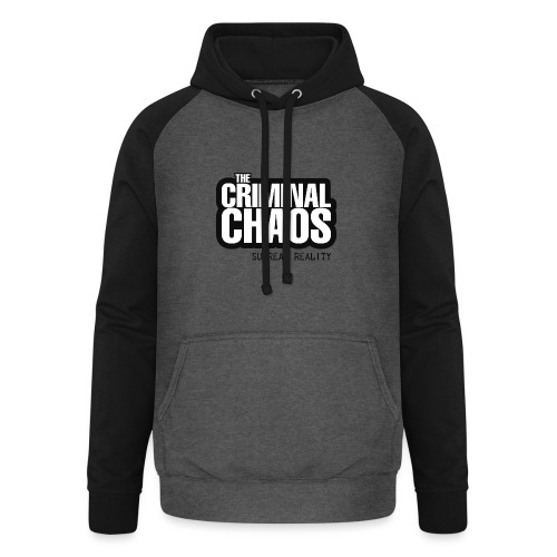 THE CRIMINAL CHAOS - Logo 2020 - SURREAL REALITY - Felpa da baseball con cappuccio unisex