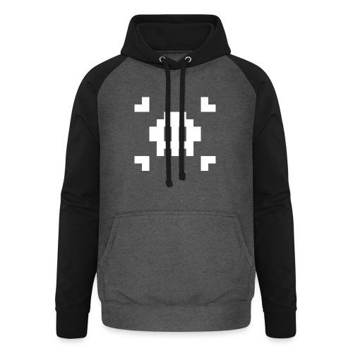 Mug Pixel Skull - Sweat-shirt baseball unisexe