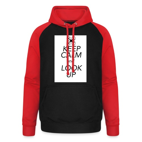 Keep Calm and Look Up - Unisex baseball hoodie