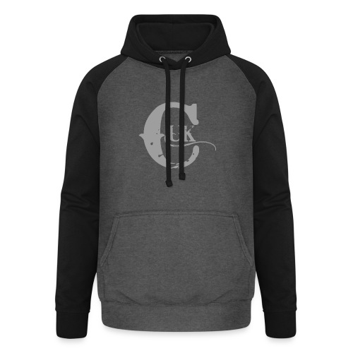 Grey Logo Range - Unisex Baseball Hoodie
