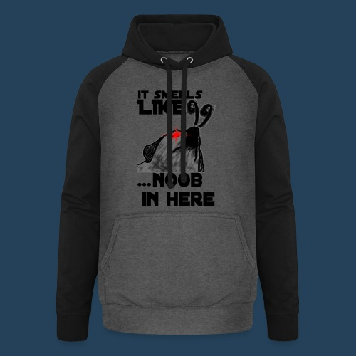 It smells like NOOB in here! - Unisex Baseball Hoodie