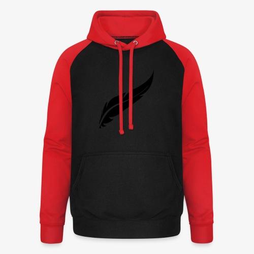 logo plume black - Sweat-shirt baseball unisexe