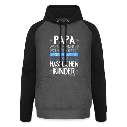 Papa - Unisex Baseball Hoodie