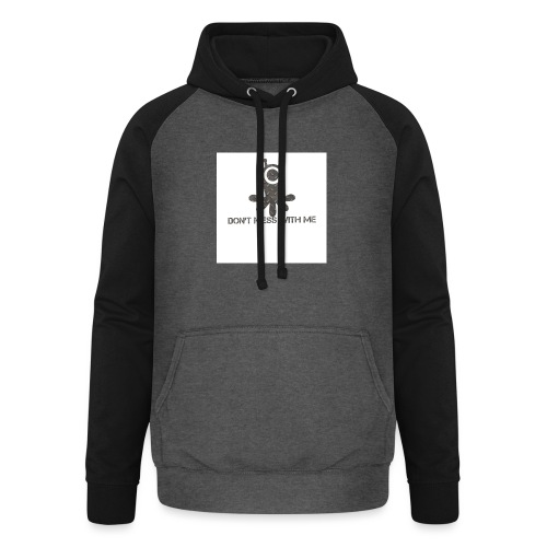 Dont mess whith me logo - Unisex Baseball Hoodie